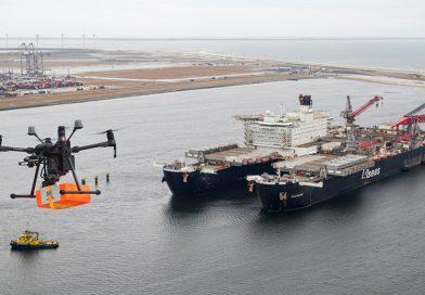 Luka ROTERDAM: Isporuka DRONOM na najveći brod na svetu (VIDEO)